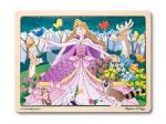 CHILDRENS CHILD MELISSA AND DOUG WOODEN WOODLAND PRINCESS 24 PIECE JIGSAW PUZZLE
